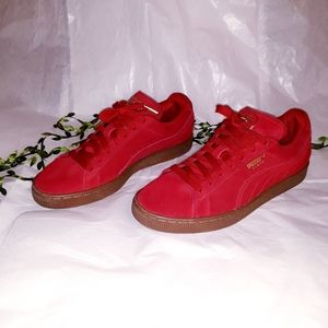 Puma suede leather women shoes